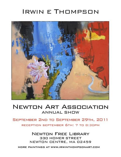 Irwin Show PosterNewtonArtAnnual070511