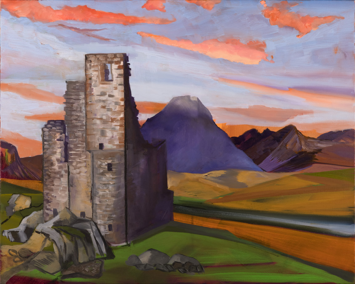 Ardvreck Castle - oil acrylic painting by Artist Irwin E Thompson