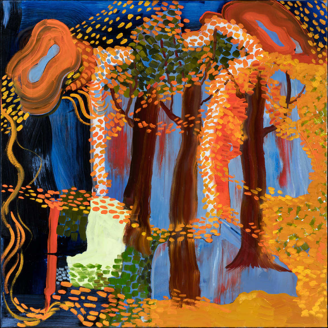 Autumn Splendor - oil acrylic painting by Artist Irwin E Thompson