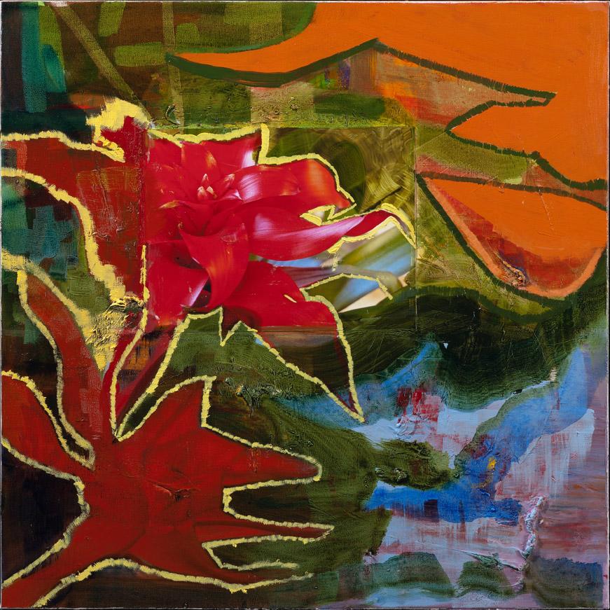 Botanical Garden - oil acrylic painting by Artist Irwin E Thompson