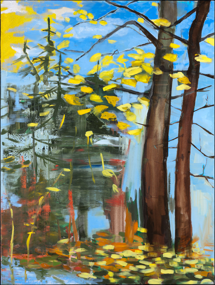 Gingko Treescape - Oil Acrylic Painting by Irwin Thompson