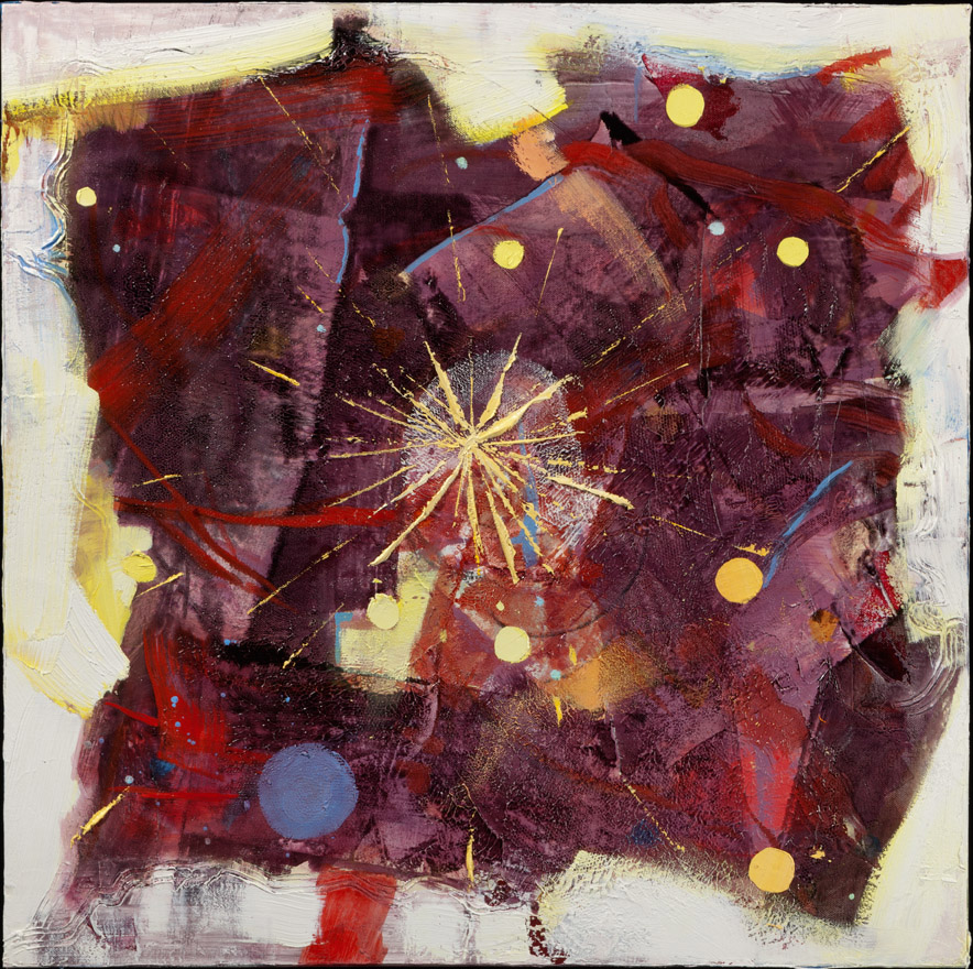 God Particle - Oil Acrylic Painting by Irwin Thompson