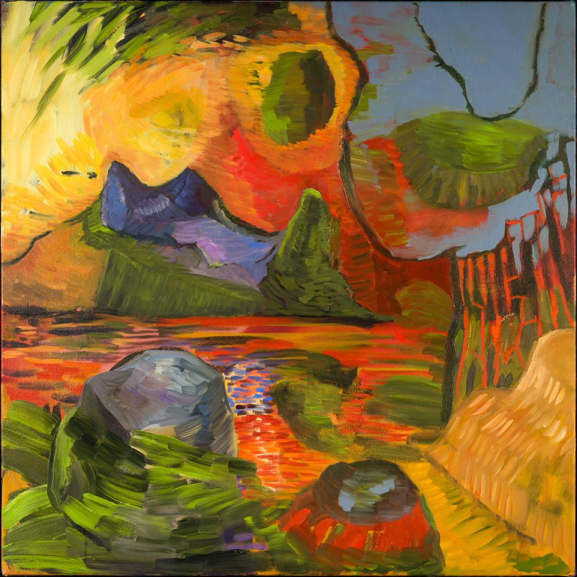 Island Fever - oil acrylic painting by Artist Irwin E Thompson