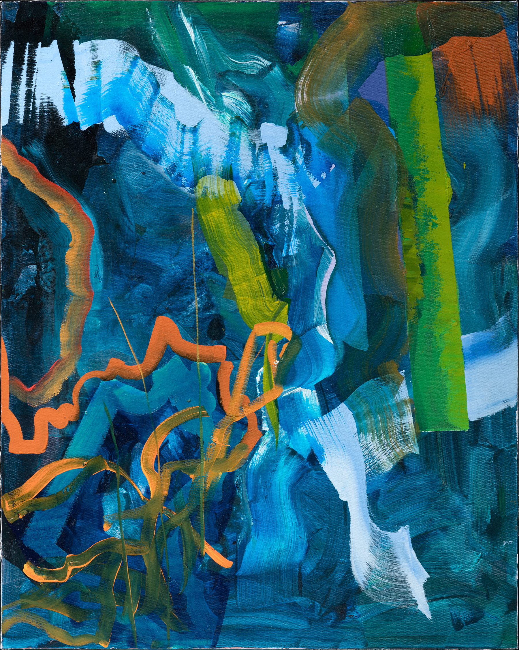 Marine Fantasy - oil acrylic painting by Artist Irwin E Thompson