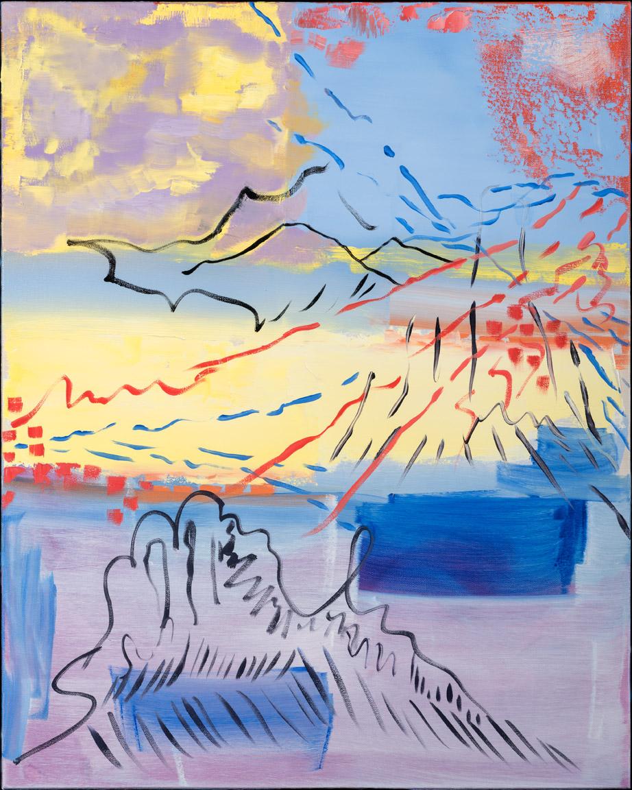 Mountain Magic - oil acrylic painting by Artist Irwin E Thompson