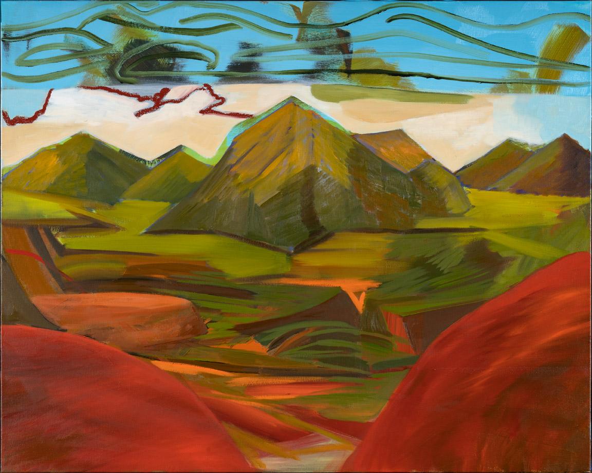 Mountain Terrain - oil acrylic painting by Artist Irwin E Thompson