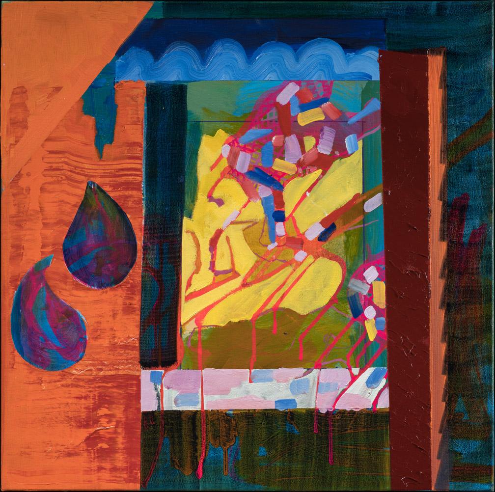 Nefertiti - oil acrylic painting by Artist Irwin E Thompson