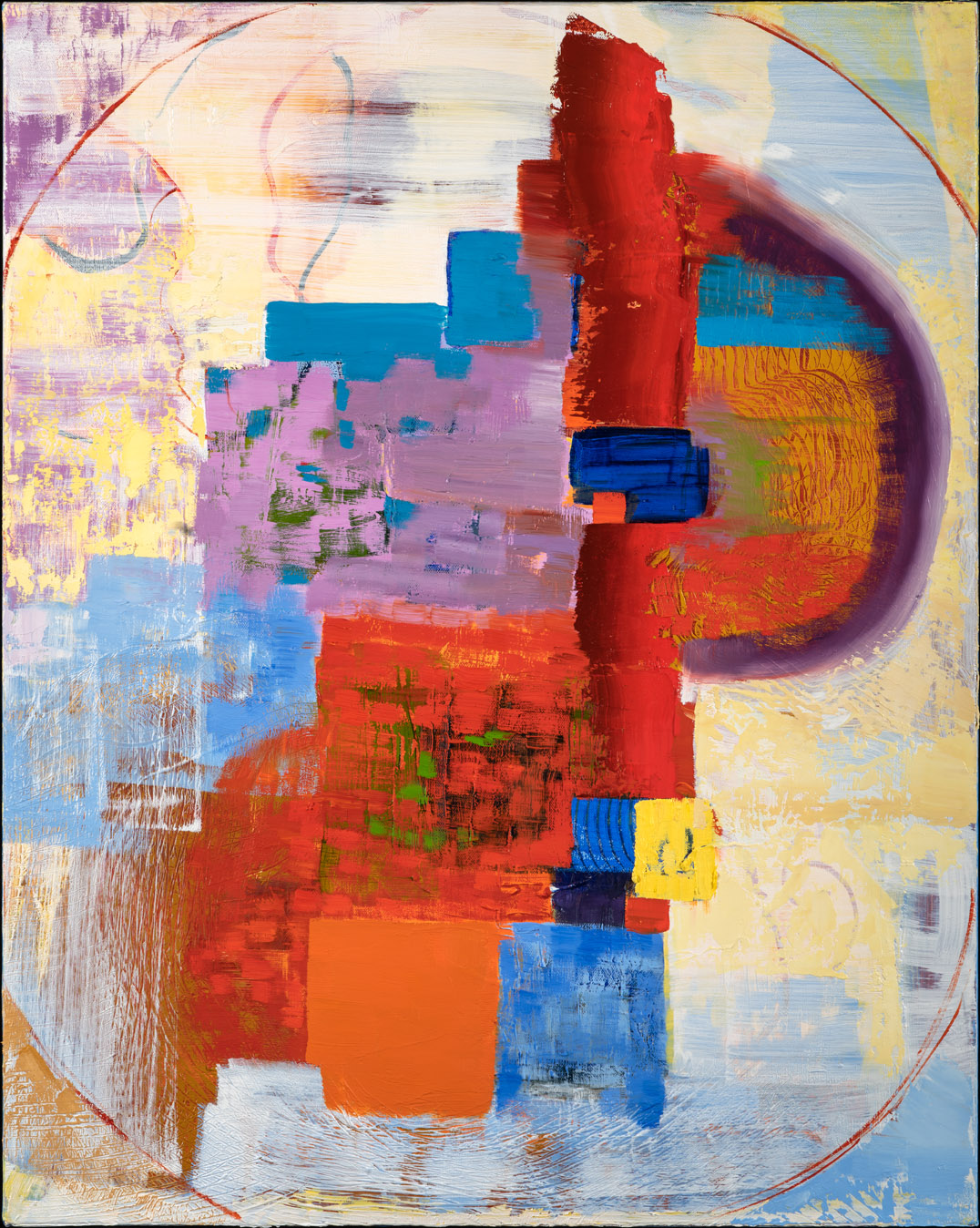 Odyssey - oil acrylic painting by Artist Irwin E Thompson