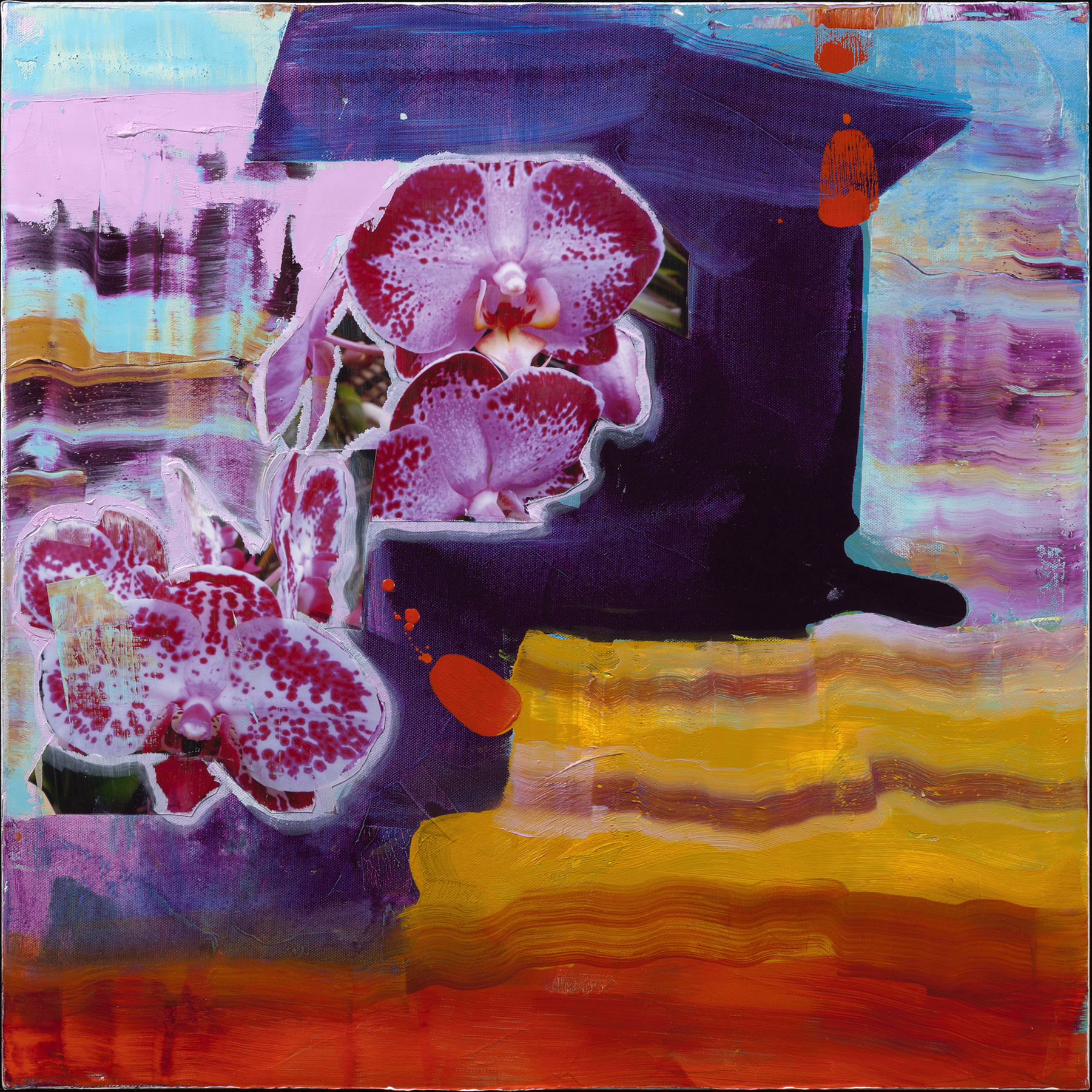 Orchid Extravaganza - Oil Acrylic Painting by Irwin Thompson