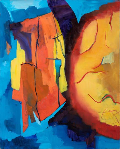 Solar Cycle - oil acrylic painting by Artist Irwin E Thompson