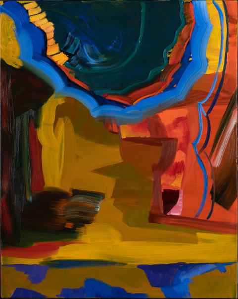 Twist and Turns - Oil Acrylic Painting by Irwin Thompson