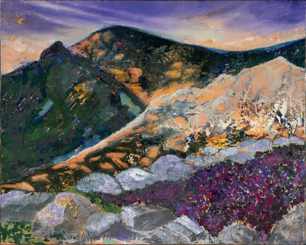 Highland Heather - oil acrylic painting by Artist Irwin E Thompson
